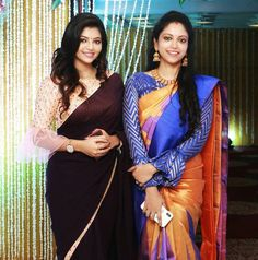 Image may contain: 2 people, people standing All Indian Actress, Indian Actress Gallery, Indian Actresses, 21st Birthday Decorations, Beautiful Saree, India Beauty, Blouse Styles, Hd Photos, One Piece