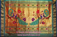 Touch of Class Paithani: Traditional Coconut/Narali Border Paithani Sarees