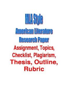 early american literature unit top secondary teachers  mla style american literature research paper