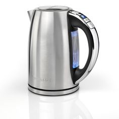 Multi Temp Jug 1.7L Electric Kettle Cuisinart Kettle And Toaster Set, Stainless Steel Kettle, Blue Led Lights, Color Changing Led, Heating Element, Electric, Drink, Colour, Stylish