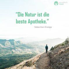 Die Natur ist die beste Apotheke. - Sebastian Kneipp. Der Weg der Heilung liegt in der Natur und in einer natürlichen Lebensweise. :-) Nature, Movies, Movie Posters, Travel, Apothecary, Healing, Medicine, Naturaleza, Viajes