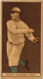1912 Brown Backgrounds T207 #164 Jim Scott Front