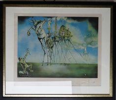 Salvador Dali - Litografia original, assinada e numerada à lápis - 143/300, tamanho: 64 cm x 74 cm.