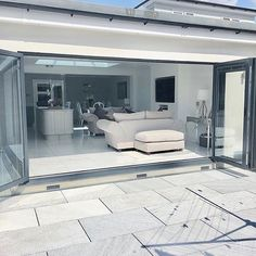 Jen (@interior_escapes) • Instagram photos and videos House Extension Design, Extension Designs, House Design, Open Plan Kitchen Living Room, Home Decor Kitchen, Kitchen Ideas, Dining Room, Corner Bifold Doors, House Extensions