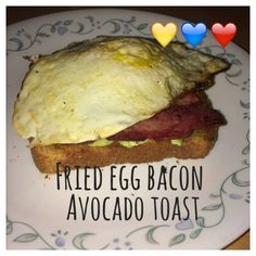... whole grain toast 1/4 cup smashed avocado 1 egg, fried 2 slices of