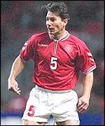Jan Heintze retired danish footballplayer. Former left back at PSV Eindhoven, Bayer Leverkusen and the danish national football team