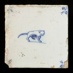 Antique Dutch tile (1650-1675)