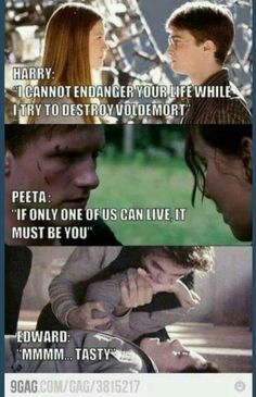Twilight will always be worse than The hunger games and Harry Potter | Teenageposts | Pinterest | Hunger games, Harry potter and Gaming
