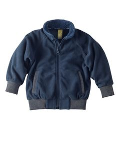 The weather is starting to get cooler -> New toddler boy jackets just added! Polar Fleece Zip Up Jacket – Navy