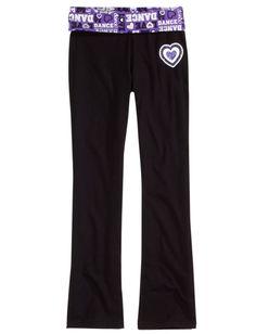 Sports Graphic Waistband Yoga Pants | Yoga Pants | Yoga Bottoms | Shop Justice