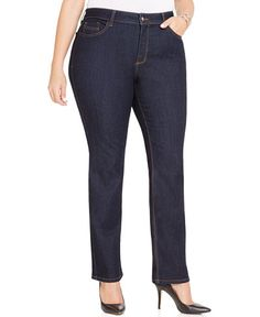 0dfa07ada3d NYDJ  Barbara  Stretch Bootcut Jeans (Dark Enzyme) (Plus Size ...