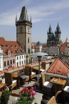 Terrace at Hotel U Prince, Prague, Czech Republic
