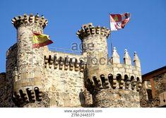 Castle of the Templars, Ponferrada, Leon province, Castile-Leon, Spain