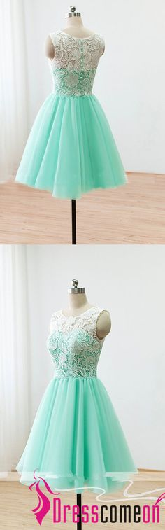 Short Lace Prom Dresses 2017 Ball Gown Mint Green Bridesmaid Dresses For Formal Dress,White Lace Bridesmaid Dress,Short Bridesmaid Dresses,Mint Prom Dresses,Short Party Dresses,Short Evening Dress,Homecoming Dresses,Garduation Dresses,Fomal Women Dress,Party Gowns.