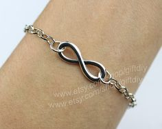 Sliver chain with Silver Infinity Bracelet Chain by giftdiy, $1.29