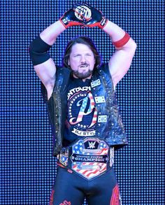 wwe There's no denying how phenomenal looks with the around his waist! Aj Styles Wwe, Divas, Ring Of Honor, Wwe Tna, Wwe Champions, Yesterday And Today, Leather Collar, Roman Reigns, Black Faux Leather