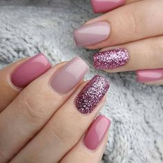 30 Wondrous Winter Nail Design Ideas For 2020 - The Glossychic We'. 30 Wondrous Winter Nail Design Ideas For 2020 - The Glossychic We've gathered over 30 winter nail design ideas. Hope you find something to inspire your next manicure. Pastel Nails, Cute Acrylic Nails, Cute Nails, My Nails, Pink Gel Nails, Glittery Nails, Pink Nail Art, Gel Nails With Glitter, Purple Nail