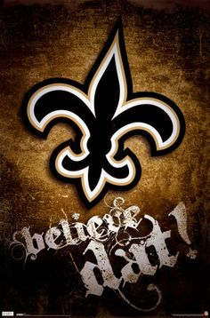 Trends New Orleans Saints Believe Dat Logo 22 X 34 Poster (Misc. New Orleans Saints Football, San Antonio Spurs, Carolina Panthers, Denver Broncos, Seattle Seahawks, Nfl Seattle, Pittsburgh Steelers, Dallas Cowboys, Football Season