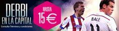 goldenpark bono recarga 15 euros derbi real madrid vs atletico liga 10-14 septiembre