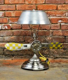 Aviation Lamp  Table Light  Airplane Propeller  by Timberson