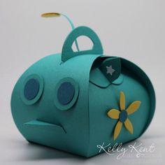 Octonauts - GUP-A vehicle Curvy Keepsake Box (back).  Kelly Kent - mypapercraftjourney.com.