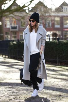 "Comfortable and cozy, bordering on ""boyfriend"" - this look is perfect for lounging, running errands, and hanging out!"