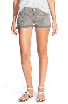 James+Jeans+Slouchy+Boyfriend+Shorts+(Stonehenge+Combat)+available+at+#Nordstrom ~~~Camo shorts, cute ~ Pants?