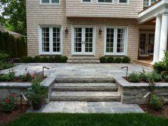 58 ideas raised patio steps railings for 2019 Patio Railing, Patio Wall, Pergola Patio, Diy Patio, Pergola Kits, Pergola Ideas, Patio Decks, Pergola Screens, Patio Swing