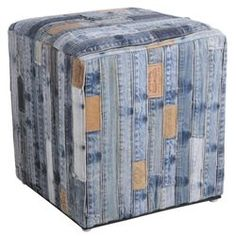 Pouf carré en jeans recyclé AUBRY GASPARD