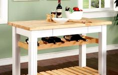 for butcher block kitchen islands round island with seating rustic staircase midcentury