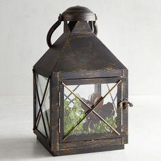 Bennett Small Black Metal Lantern