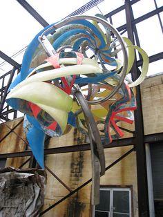 colorful Frank Stella sculpture