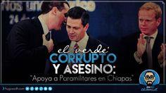 El 'Verde' CORRUPTO y ASESINO: ''Apoya a Paramilitares en Chiapas''