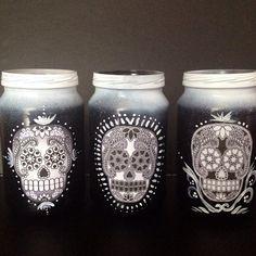 Dia de Los Muertos keep sake jars set of 3 on Etsy, $30.00 AUD