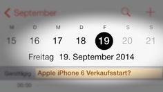 Telekom: iPhone 6 Verkaufsstart - Termin steht fest? - http://apfeleimer.de/2014/05/telekom-iphone-6-verkaufsstart-termin-steht-fest - Leak bei der Deutschen Telekom:das iPhone 6 soll am 19. September 2014 in den Handel kommen. Während wir heute morgen bereits einen etwas fadenscheinigen Bericht zu einer möglichen iPhone 6 Vorstellung zur WWDC 2014der Frankfurter Rundschau genauer beleuchtet habenwollen die Kollegen von apfe...