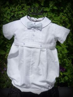 BOY Blessing / Christening Outfit with Lt Blue by knotsewshabby, $60.00