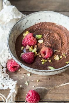 ... raw chocolate pudding (healthy, super easy and delicious) ...: