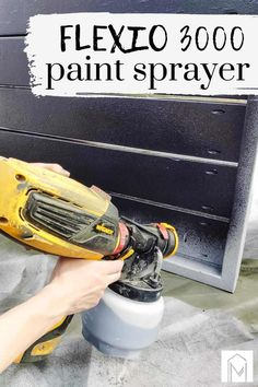 Read this article all about the Wagner FLEXi) 3000 HVLP Paint Sprayer, including a step by step tutorial and proper paint sprayer techniques! Wagner Paint Sprayer, Hvlp Paint Sprayer, Best Paint Sprayer, Using A Paint Sprayer, Woodworking Basics, Woodworking Projects Diy, Diy Projects Using Wood, Craft Projects, Craft Ideas