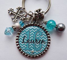 Personalized Sweet 16 gift blue teal white chevron by TrendyTz, $20.99