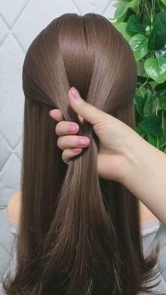 Hair Tutorials For Medium Hair, Hairstyles For Medium Length Hair Easy, Hairdo For Long Hair, Summer Hairstyles, Short Box Braids Hairstyles, Natural Braided Hairstyles, Natural Braids, Evening Hairstyles, Curly Hair