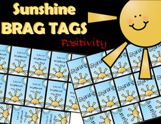 """Free Brag Tags (2 Options) ~ size 2x3""""Sunshine TagsYou've brightened my day!ShiningThank you for downloading!Please follow…"""