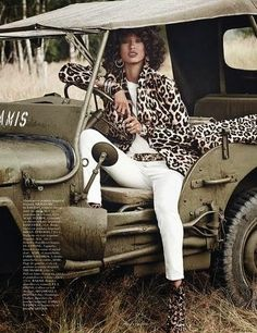Reppin Africa: Paris Vogue With Safari Themed Editorial With Anais Mali - Elegancy 101 | Elegancy 101