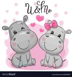Cartoon Hippo, Cute Cartoon, Cute Hippo, Cute Baby Animals, Toy Boxes, Big Eyes, Cute Wallpapers, Planner Stickers, Cute Babies