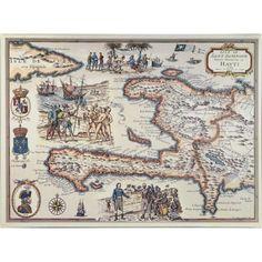 Trademark Art 'Map of the Island of Haiti, 1789' Canvas Art, Size: 14 x 19, Multicolor