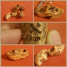 Lopen klompen :) first wood carving and burning experience....