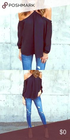 ❤Just in❤ more sizes coming soon! Black off the shoulder top. More sizes coming soon! Tops Blouses