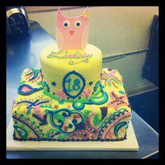 Cake made to look like Vera Bradley bag!