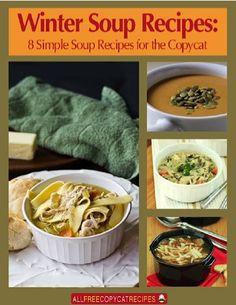 FREE e-Cookbook: 8 Simple Copycat Soup Recipes {Olive Garden, Panera, Carrabbas + more!} #recipe #soups #thefrugalgirls