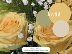 Not only is yellow the color of Joy and Empowerment it's also a very healing hue. Think of how good you feel when you see the sun or even these yellow roses. Incorporate yellow into your home…