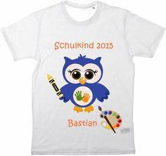 Kinder T-Shirt Schulkind von MilaLu auf DaWanda.com
